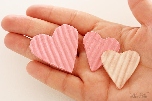 Royal icing hearts:
