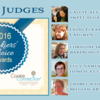 2016 Judges Banner: Graphic Design by Pretty Sweet Designs and Julia M Usher; Photos Courtesy of Judges