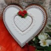 Heart with Red Roses: Cookie and Photo by Teri Pringle Wood