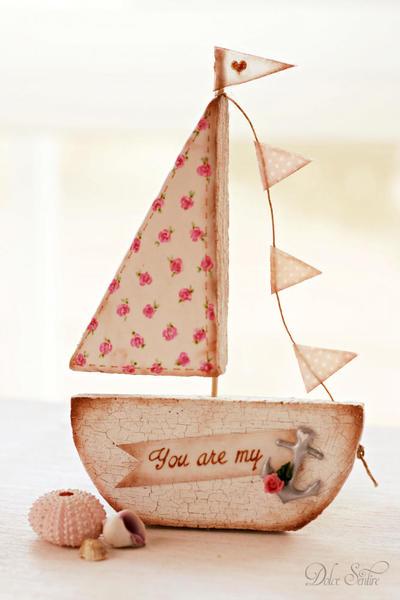 Valentine Cookie Boat