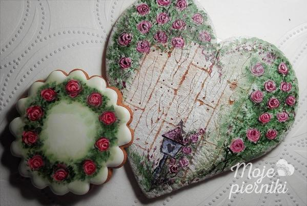 Handpainted Heart by E. Kiszowara