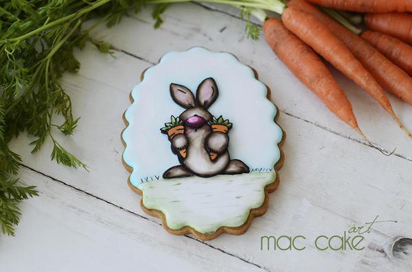 Conejo y Sus Zanahorias by Mac Cake Art