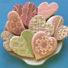 Heart Cookies with SugarVeil® Lace: Cookies and Photo by SugarVeil®