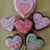 Cross-Stitch/Needlepoint Valentines: Cookies and Photo by SugarVeil®
