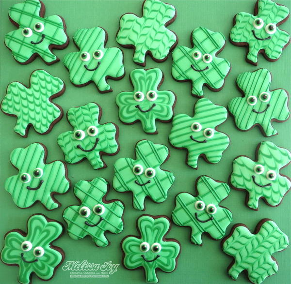 #8 - St. Patrick's Day Shamrocks by Melissa Joy Fanciful Cookies