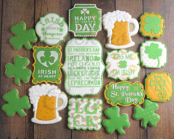 #5 - St. Patty's Day Stenciled Cookies by artsyqt44