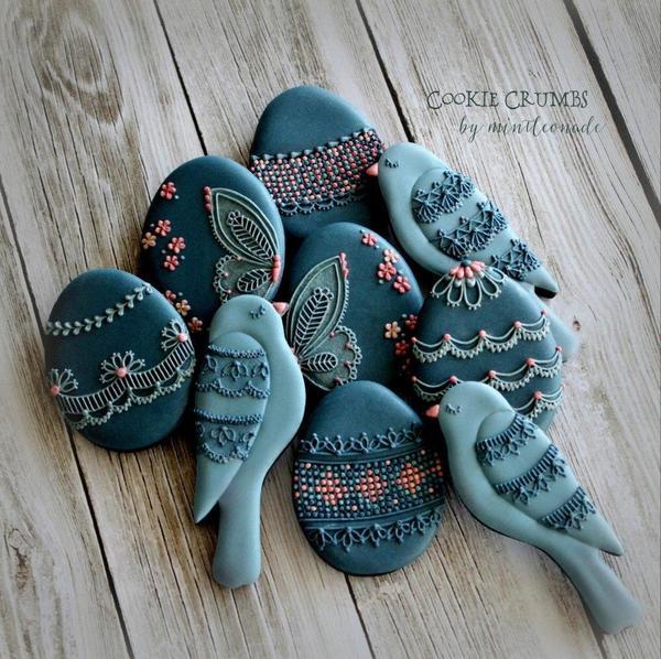 #3 - Blue Birds and Eggs by mintlemonade (cookie crumbs)