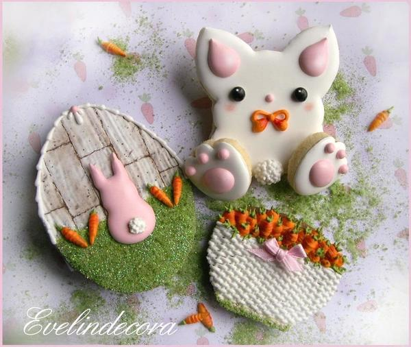 #4 - Easter Bunny Cookies by Evelindecora