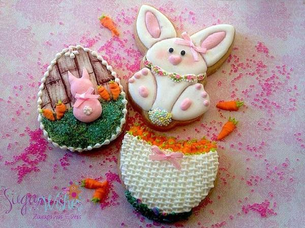#7 - Easter Bunny Cookies by Tina at Sugar Wishes