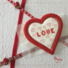 Cross-Stitched Heart: Design, Cookie, and Photo by Manu