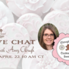 Amy Clough Chat Banner: Cookies, Photos, and Logo Courtesy of Amy Clough; Graphic Design by Julia M Usher