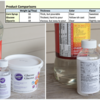 Comparison of Corn Syrup to Substitutes: Photos and Collage by Julia M Usher