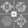 New April Prettier Plaques Cookie Stencil Sets: Stencil Designs by Julia M Usher in Partnership with Stencil Ease