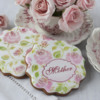 """""""Mother"""" Prettier Plaques Cookies: Cookies and Photo by Julia M Usher; Stencil Designs by Julia M Usher in Partnership with Stencil Ease"""