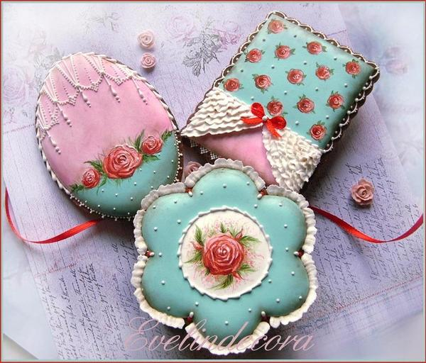 #1 - Shabby Chic Cookies by Evelindecora