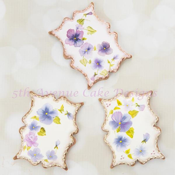 #3 - Handpainted Pansy Cookies by bobbiebakes