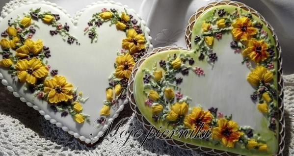#6 - Hearts and Flowers by E. Kiszowara MOJE PIERNIKI