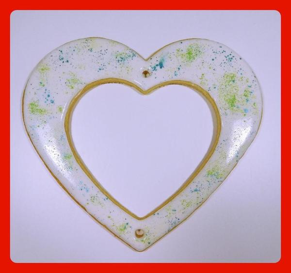 Large Heart with Powder Color