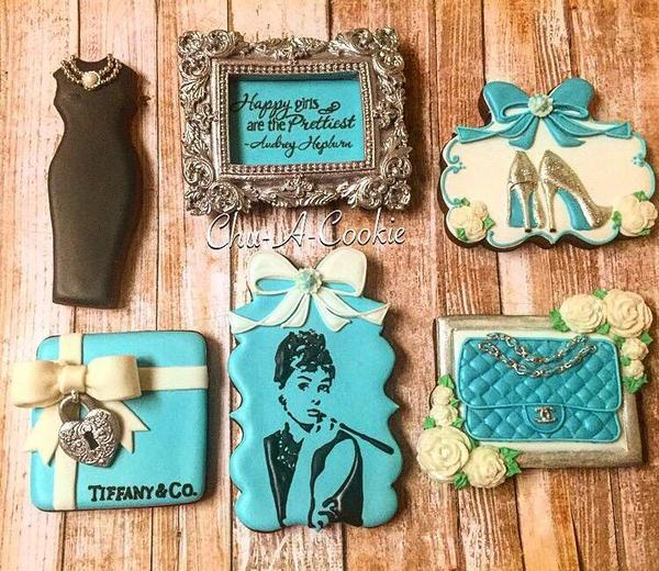 #7 - Tiffany-Themed Cookies by Chu-A-Cookie