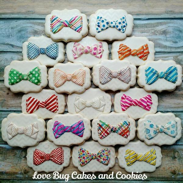 #7 - Bow Ties by Love Bug Cookies