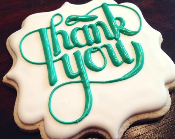 #9 - Thank You Typography Cookie by KillerZebras