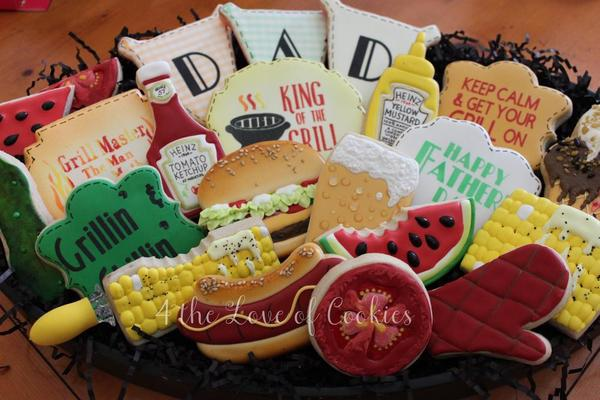#9 - Father's Day Grill Master Cookies by 4 The Love of Cookies
