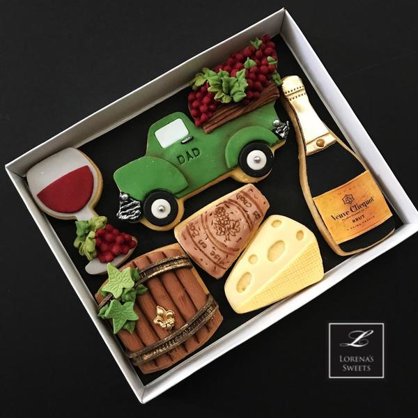 #6 - Fathers' Day Winery Cookies by Lorena Rodriguez