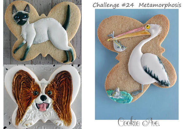 #4 - Animals with Butterfly-Shaped Cookie by Ryoko ~Cookie Ave.