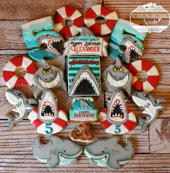 #2 - Sharky 5th Birthday by Cajun Home Sweets