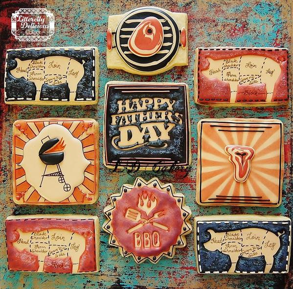 Vintage fathers day cookies