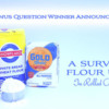 Flour Survey Winner Announcement Banner: Photo by Liesbet; Graphic Design by Julia M Usher