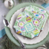 """Deck the Halls"" Prettier Plaques Cookies - Retro Colors: Cookies and Photo by Julia M Usher; Design by Julia M Usher in Partnership with Confection Couture (aka Stencil Ease)"