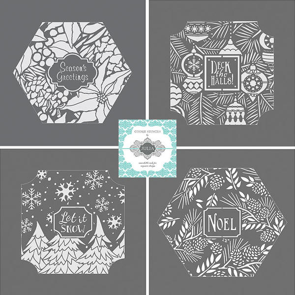 New October Stencils Large -set 1