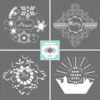 Previous Holiday Prettier Plaques Stencil Set Releases: Designs by Julia M Usher in Partnership with Confection Couture (aka Stencil Ease)