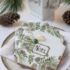 """""""Noel"""" Prettier Plaques Cookies: Cookies and Photo by Julia M Usher; Design by Julia M Usher in Partnership with Confection Couture (aka Stencil Ease)"""