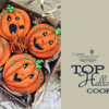 Top 10 Halloween Cookies Banner: Cookies and Photo by Lambakery; Graphic Design by Julia M Usher