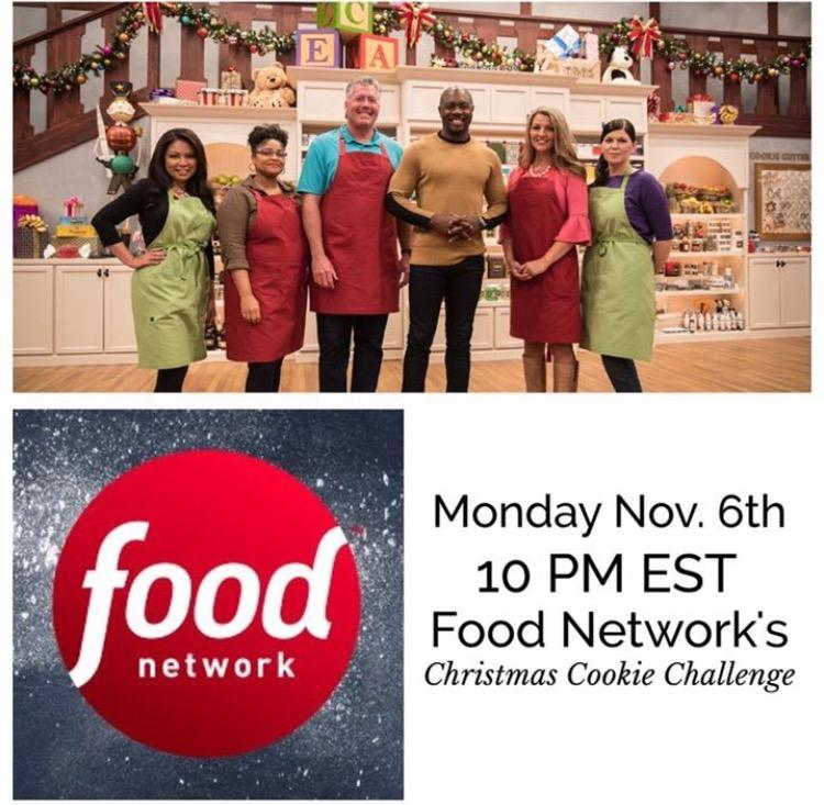 Christmas Cookie Challenge Judges.Two Cookie Connection Members On Food Network Cookie