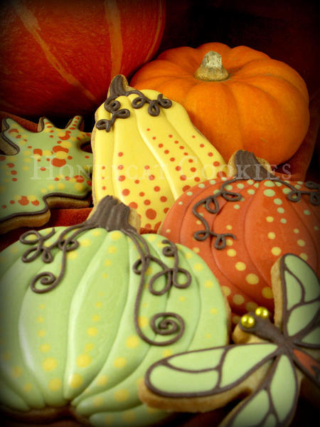 #10 - Pumpkins and Gourds by Lucy (Honeycat Cookies)