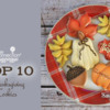 Top 10 Thanksgiving Cookies Banner: Cookies and Photo by Sweet Smiles; Graphic Design by Julia M Usher