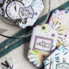 November Prettier Plaques Releases - Title Image: Cookies and Photo by Julia M Usher; Stencil Design in Partnership with Confection Couture Stencils