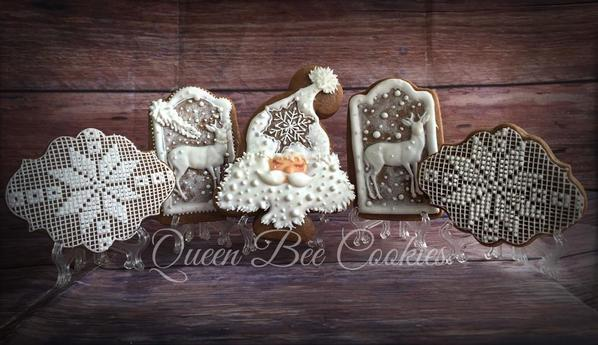 #8 - Traditional White Winter Gingerbread by Queen Bee Cookies