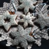 #9 - Silver, Blue, and White Snowflakes and Stars: By Szilvia