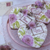 Another Close-up of Cookies Using Both Dynamic Duos Sets: Cookies and Photo by Julia M Usher; Stencils Designed by Julia M Usher in Partnership with Confection Couture Stencils