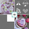 Julia's December Stencil Releases: Cookies and Photo by Julia M Usher; Stencils Designed by Julia M Usher in Partnership with Confection Couture Stencils