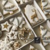 #3 - White Christmas Cookies with Gold Deer: By Lorena Rodríguez