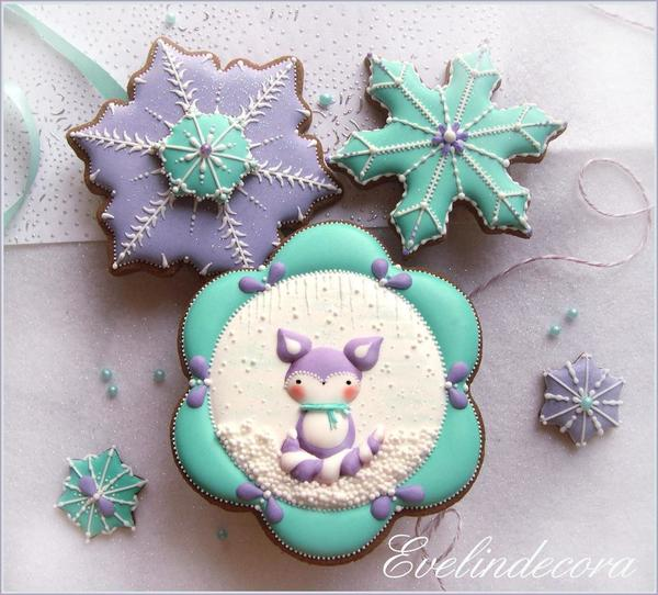 #5 - Winter Fox Cookies by Evelindecora