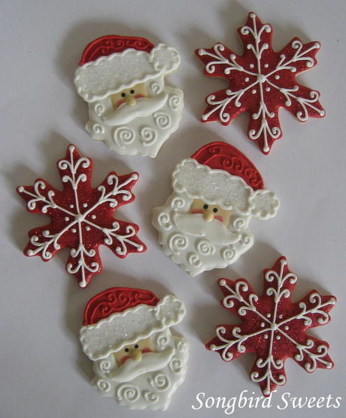 #9 - Santa Faces and Snowflakes by Songbird Sweets