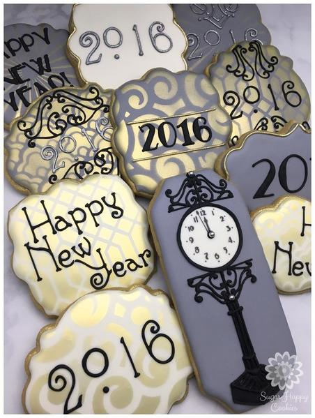 #9 - New Year's Eve, Art Deco-Inspired by Sugar Happy Cookies