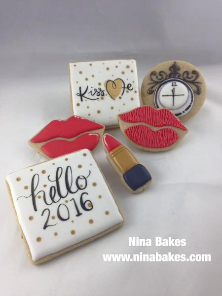 #10 - New Year's Eve Cookies - Hello 2016 by Christina Hopper