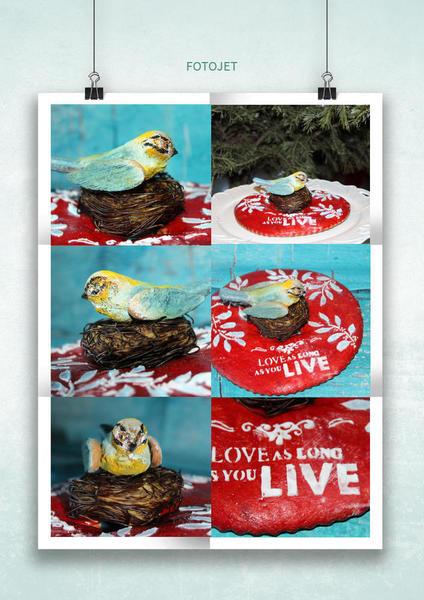 #10 - 3-D Gingerbread Bird by Petra Florean